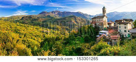 Pictorial small village in mountains - Castelcanafurone, Emilia-Romagna
