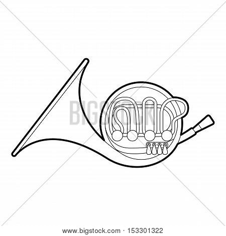 Brass pipe icon. Outline illustration of brass pipe vector icon for web