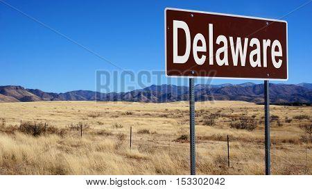 Delaware Brown Road Sign