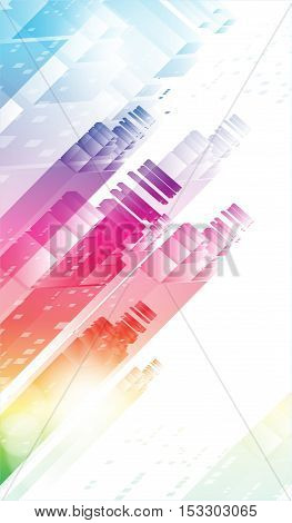 Solar City. Abstract background, cover, header site. Eps10.