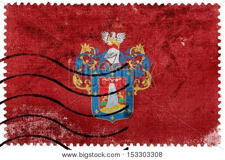 Flag Of Arequipa, Peru, Old Postage Stamp