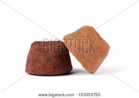 Chocolate truffle with organic cacao cocoa, dark, small