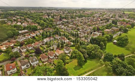 Harrogate Town Photograph From Above In Summer