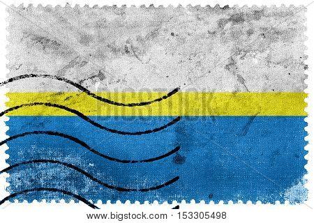 Flag Of Czestochowa, Poland, Old Postage Stamp
