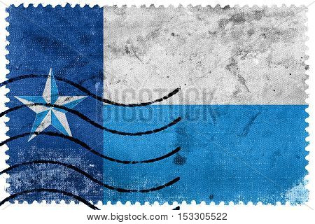 Flag Of Dallas County, Texas, Usa, Old Postage Stamp