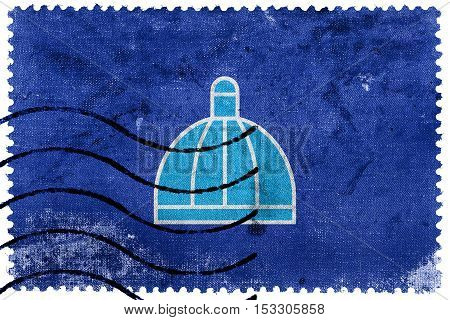Flag Of Durban, South Africa, Old Postage Stamp