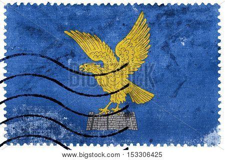 Flag Of Friuli-venezia Giulia, Italy, Old Postage Stamp