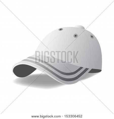 Vector cap on white background - illustration