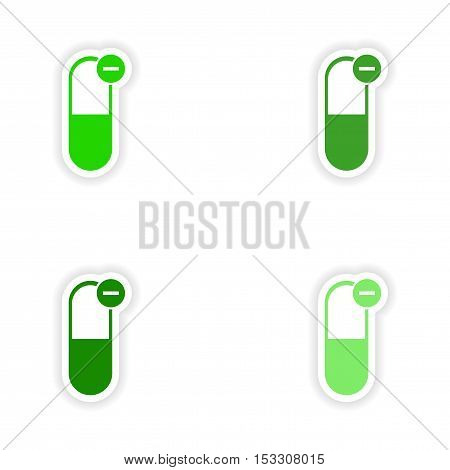 assembly realistic sticker design on paper pills capsules