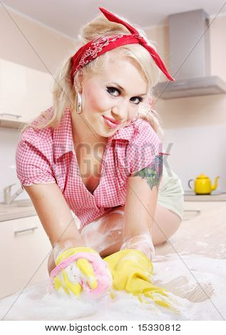 Sexy girl cleaning, similar available in my portfolio