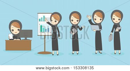 cartoon arab businesswoman great for your design
