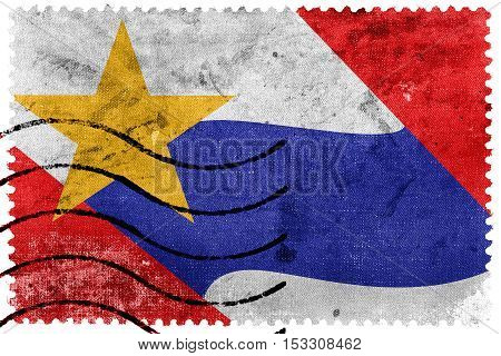 Flag Of Lafayette, Indiana, Usa, Old Postage Stamp