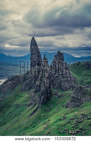 Beautiful View To Old Man Of Storr In Isle Of Skye, Scotland