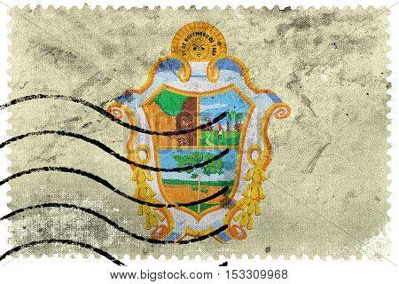 Flag Of Manaus, Amazonas, Brazil, Old Postage Stamp