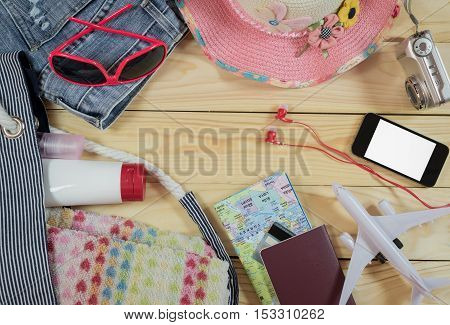 Travel Concept With Female Accessory