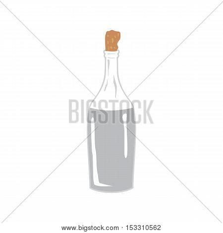 Vector image Vodka moonshine in the bottle