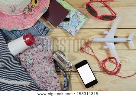 Travel Concept With Female Accessory And Costumes