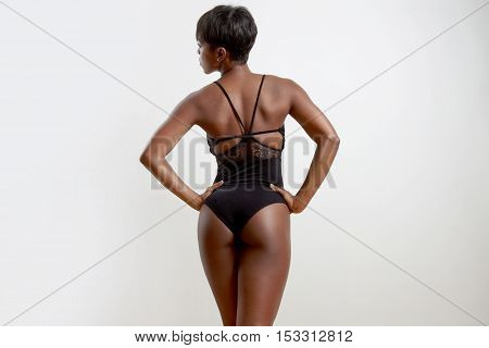 Woman From The Back Woth Hands On Waist