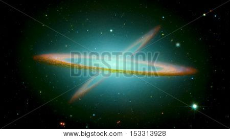 The Sombrero Galaxy, also known as Messier Object 104, M104 or NGC 4594 is an unbarred spiral galaxy in the constellation Virgo. Elements of this image furnished by NASA.