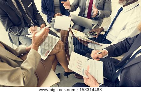 Business People Discussion Marketing Plan Meeting Concept