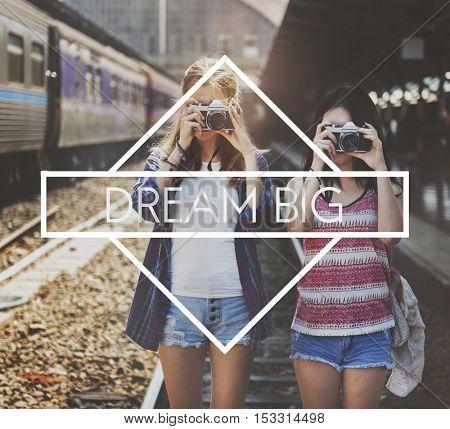 Dream Big Dreamer Hopeful Inspiration Concept