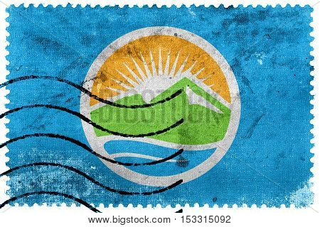 Flag Of Provo, Utah, Usa, Old Postage Stamp