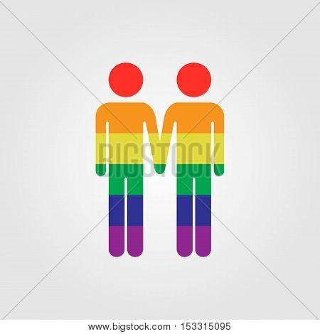 Gay vector icon LGBT rainbow flag vector icon gay marriage