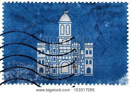 Flag Of Split, Croatia, Old Postage Stamp
