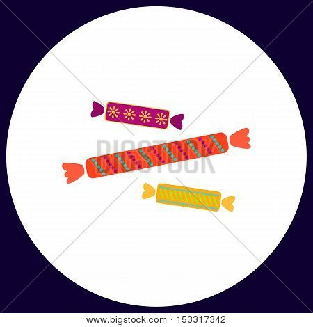 Candy Simple vector button. Illustration symbol. Color flat icon