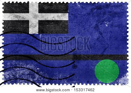 Flag Of Tangier Island, Virginia, Usa, Old Postage Stamp