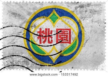 Flag Of Taoyuan, Taiwan, Old Postage Stamp