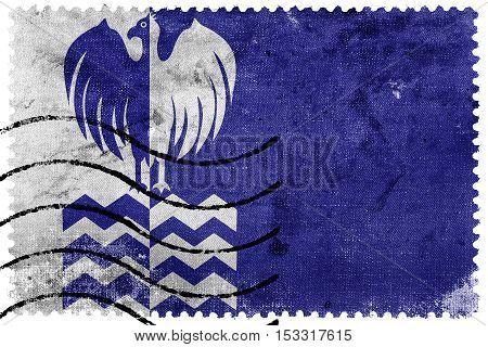 Flag Of Tiete, Sao Paulo State, Brazil, Old Postage Stamp