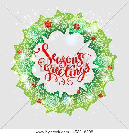 Holiday green wreath
