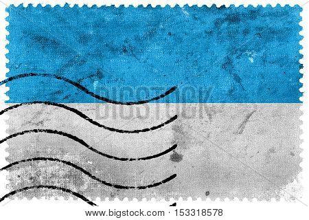 Flag Of Viljandi, Estonia, Old Postage Stamp
