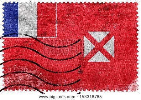 Flag Of Wallis And Futuna, Old Postage Stamp