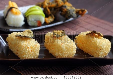 Sushi is food style in Japan culture.