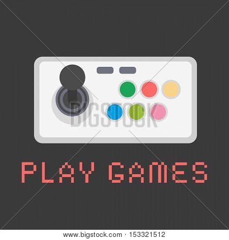 Gamepad Video game. Flat design vector illustration.