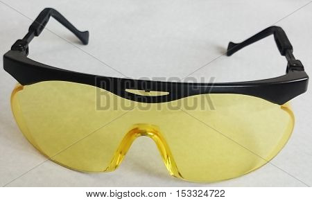 Isolated professional UV protection glasses on white background
