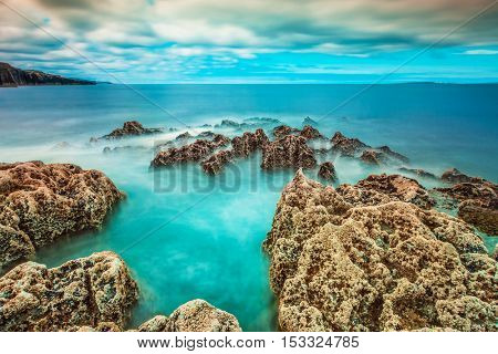 Coastline of Atlantic ocean in Ireland