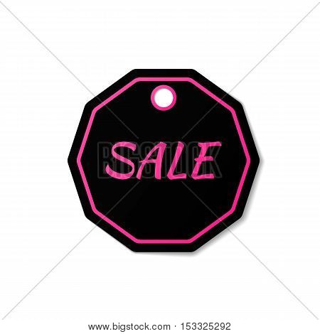 Black Friday sales vector illustration. Sale badge. Sale tag. Sale label. Sale banner.