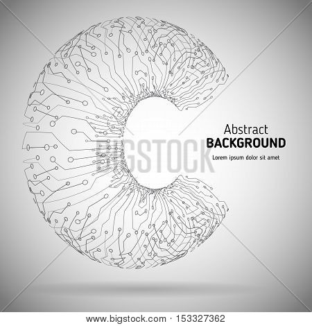 Digital technologies abstract background. Technological vector background