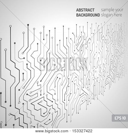 Technological vector background with a circuit board texture. Digital wall technologies abstract background