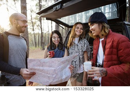 Group of People Traveling Concept
