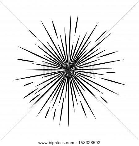 Sunburst in black and white colors  design. vector illustration