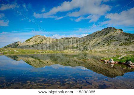 Glacial lake Tevno ezero at national park Pirin, Bulgaria