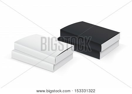 Blank book coverround. Template for your on white background. Mocap book. Isometric view on white background. Realistic mockups. Vector illustration