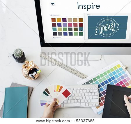 Inspire Be Creative Design Logo Concept
