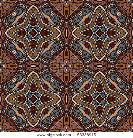 tribal ethnic bohemia fashion abstract floral indian pattern