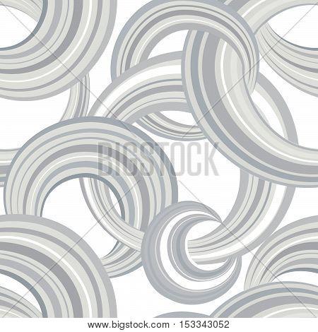 Abstract Geometric Seamless Pattern. Bubble Ornamental Backgroun