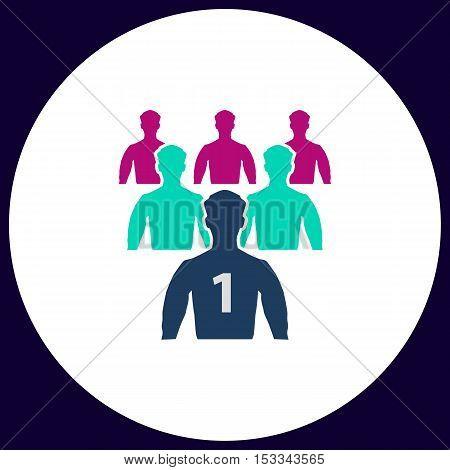 Leadership Simple vector button. Illustration symbol. Color flat icon